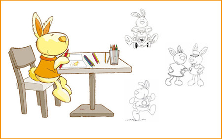 Sunny Bunny: Ausmalbilder